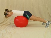 Back Hyperextension with Physio Ball