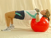 Dumbbell Bench Press with Physio Ball