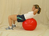 Crunches on Physio Ball