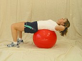 Crunches on Physio Ball Variation