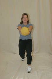 Forward Lunge with Medicine Ball - Chest Front