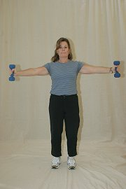 Lateral Raise with Dumbbells - Thumbs Up