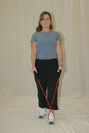 Lateral Raise with Elastic Tubing