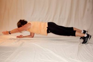 Plank with arm march
