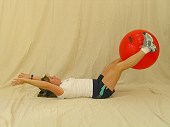 Physio Ball Reach and Lower
