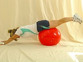 Rolling Lat Pull - Physio Ball