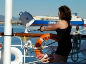 Balance work can be done anywhere- even on a ship!