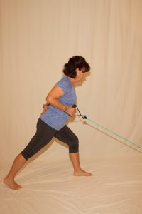 Split stance 1 arm low row